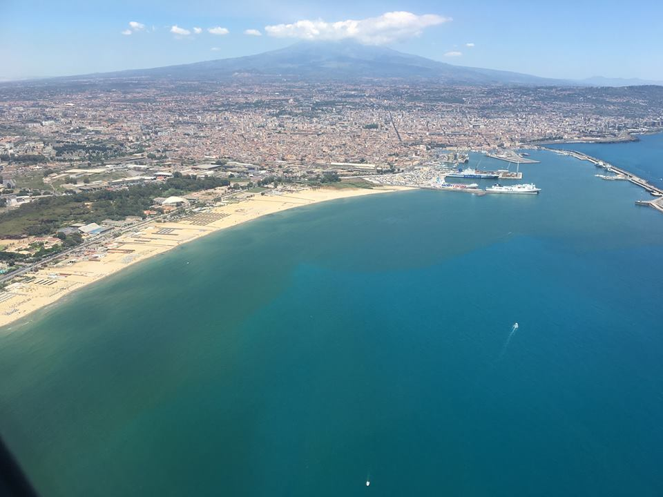 Catania from airflight